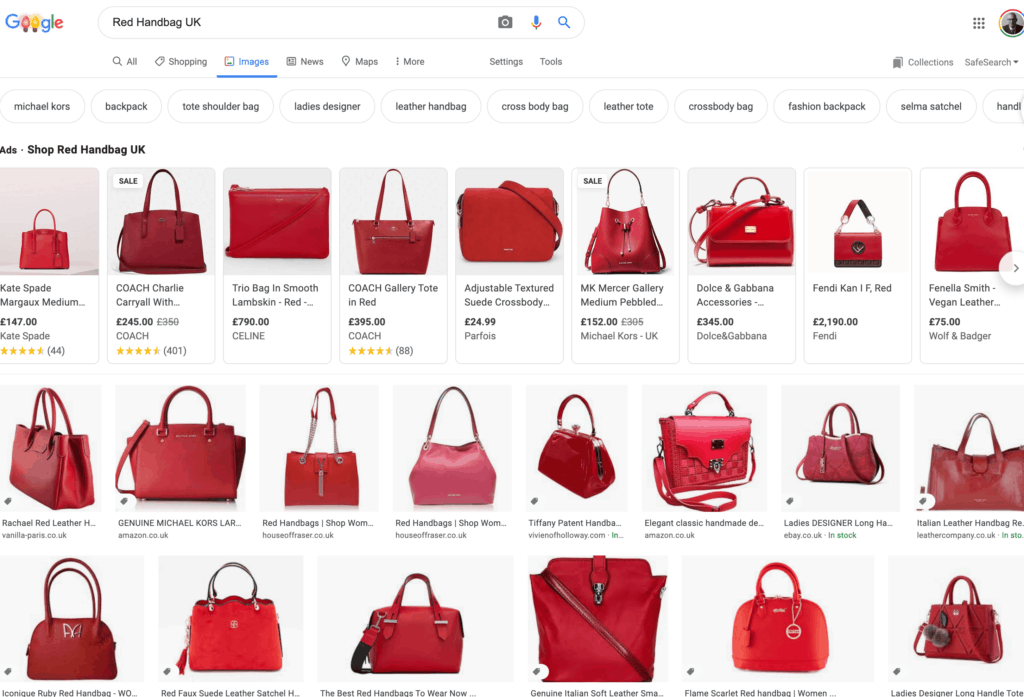 Image Search - Using The Google Search Bar